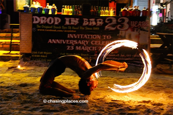 Fire performer on Ko Pha Ngan