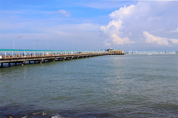 The pier on the mainland. The departure point to Koh Pha Ngan.