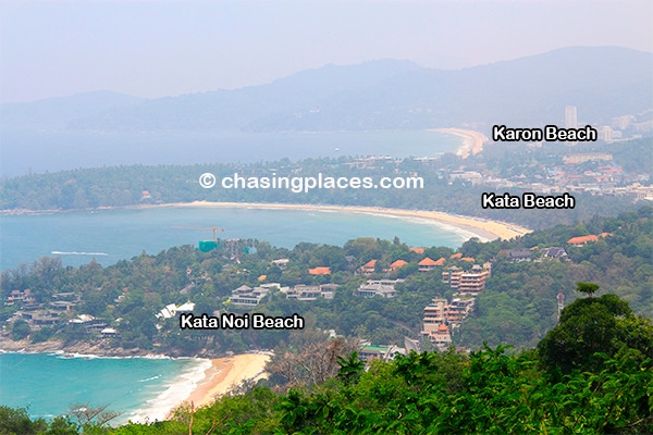 Kata Noi, Kata and Karon Beach from Kata Viewpoint on Phuket Island