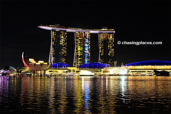 The always spectacular view of Marina Bay Sands, Singapore