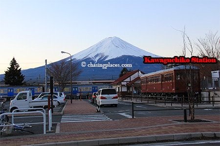 You can quickly determine whether Mount Fuji is visible once you arrive at Kawaguchiko Station.