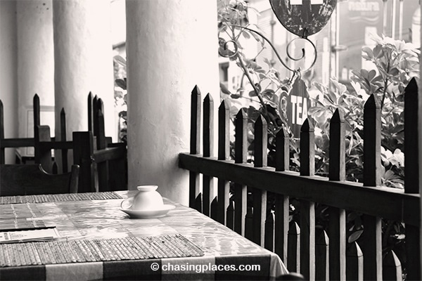 Enjoy a cup of coffee at one of Galle Fort's cozy cafes
