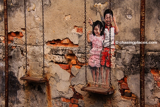 Explore the wall murals in Georgetown, Penang