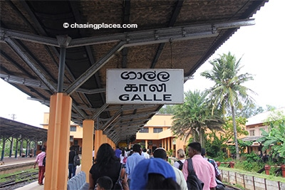 Once you arrive at Galle Station grab a three-wheeler to the fort area