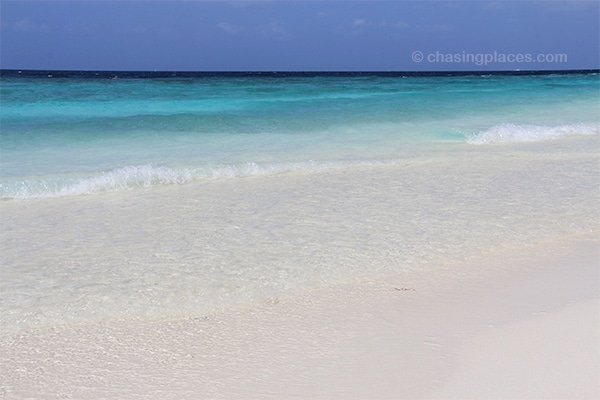 The Maldives is known for its crystal clear water and powdery white sand