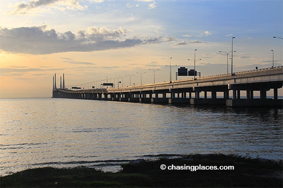 The new Penang Bridge, the site of the Penang International Bridge Marathon