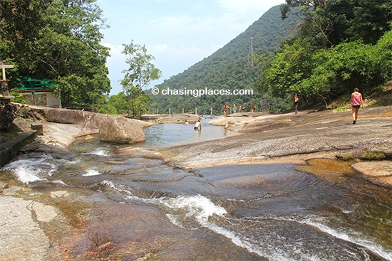 The upper set of pools, Seven Wells Waterfalls, Langkawi
