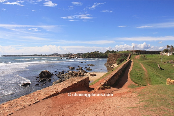 Walking around the walls of Galle Fort is highly recommended