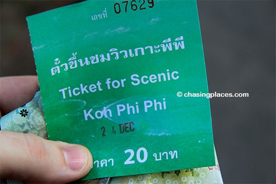 Expect to pay 20 Baht along your way up to Phi Phi Viewpoint