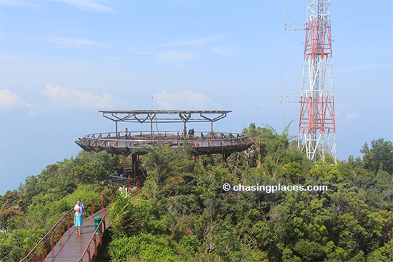 One of the viewing platforms
