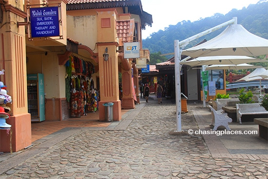 Some of the shops within the Oriental Village, Langkawi