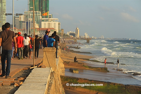 The Galle Face Green Waterfront Area, Colombo