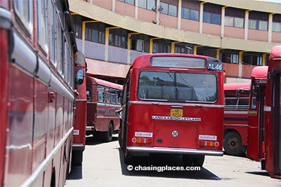 The drop off point at Colombo Fort Bus Terminal