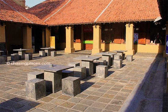 The interior square of the Dutch Hospital, Colombo