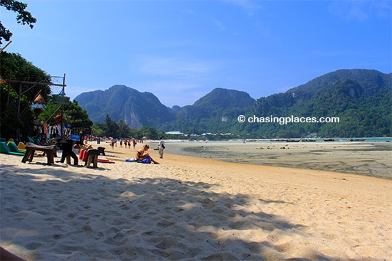 A quiet morning on Koh Phi Phi at low tide