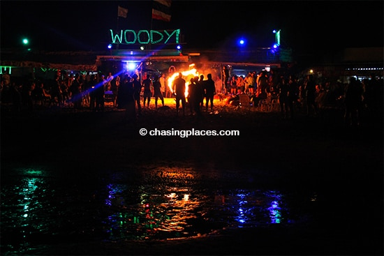 Be ready for late night fire shows on Koh Phi Phi