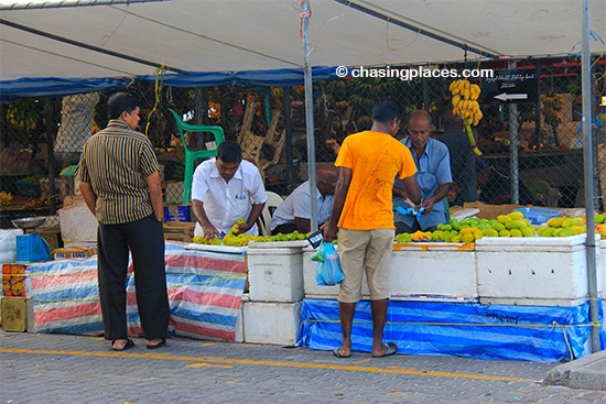 Grab some fresh fruits at-Male's Produce Maket