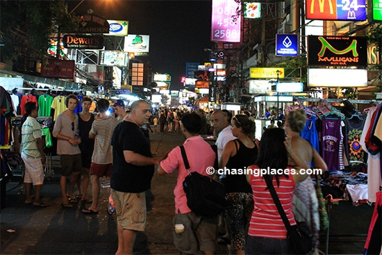 Khao San Road in the early evening
