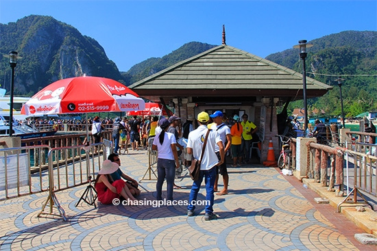 Locals waiting for fresh tourists to step foot on Koh Phi Phi