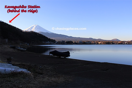 Making our way to the north shore of Lake Kawaguchiko for an unobstructed view of Mount Fuji