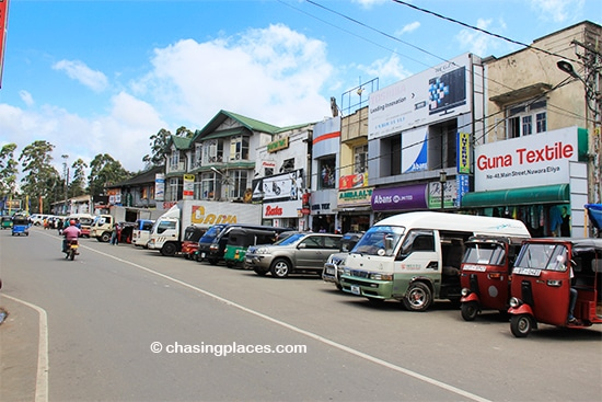 One of the central streets in the heart of Nuwara Eliya