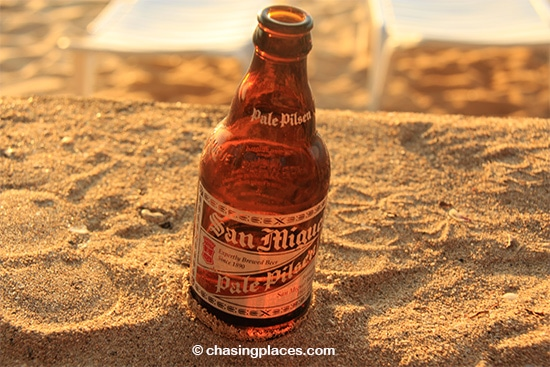 Grab a few drinks and head for the beach to capture the sunset
