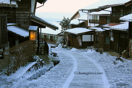 Magome after a light snowfall