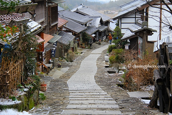 Magome, minutes before the snow