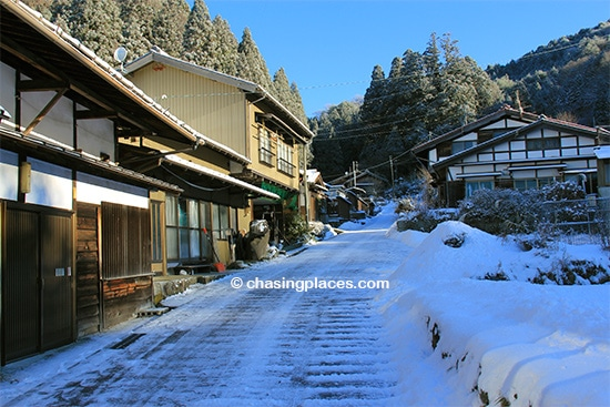 One of the aged towns on the way to Tsumago