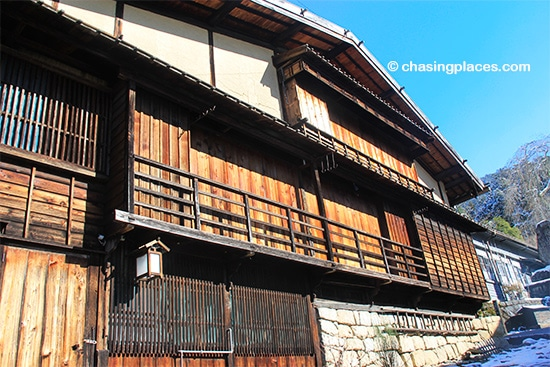 The aged cedar buildings in Tsumago are even more impressive in person