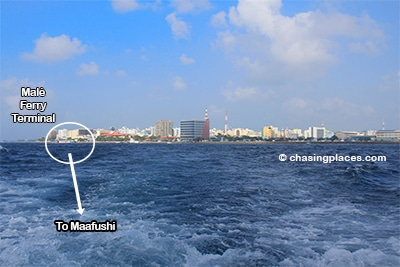 The ferries depart from the south west corner of Malé