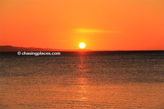The spectacular Saud Beach Sunset