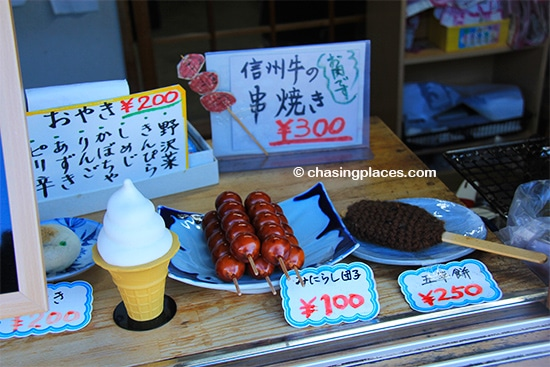 Try some of the traditional tasty treats in Tsmago