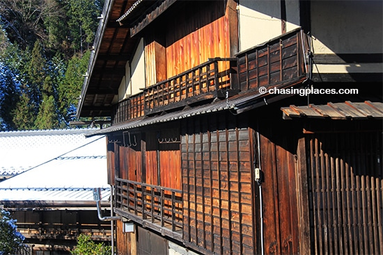 Tsumago.-Both Magome and Tsumago are filled with buildings with atmospheric aged cedar siding