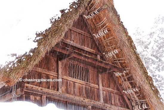 An example of a Gassho style roof in Ainokura