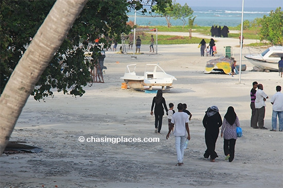 It was great to see the locals from Maafushi Island playing football and swimming during sunset