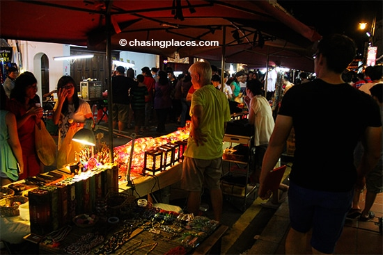 Lots of goods are always on display on Jonker Walk