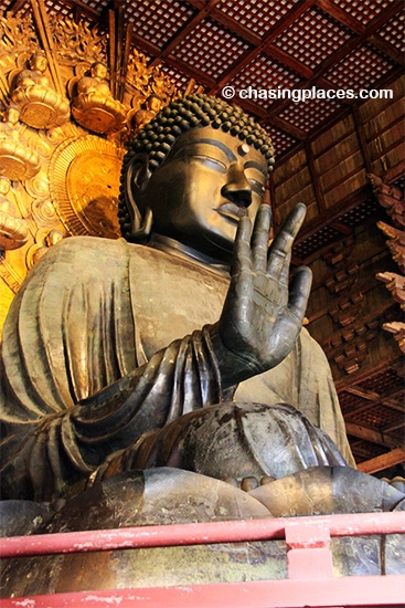 Millions visit Nara every year to get a close up of The Great Buddha