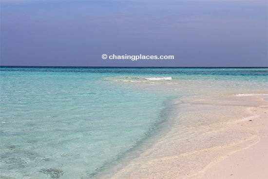 Natural patches of sand create ideal spots for romantic picnics on Maafushi Island