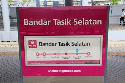 Once you arrive at Bandar Tasik Selatan, walk over to the bus station