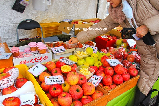 The Fuji Apples at Takayama's markets are simply delicious