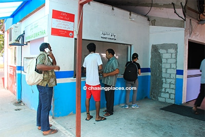 The Villingili ferry ticket counter