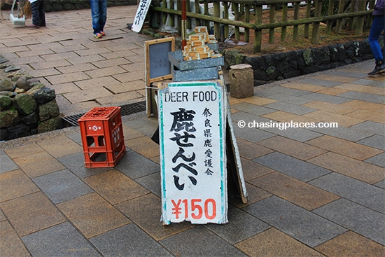 The deer in Nara could be the most well fed animals in the world