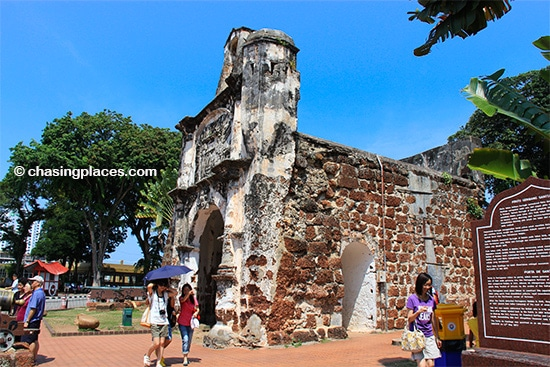 The remains of A Famosa Fort, Melaka, Malaysia