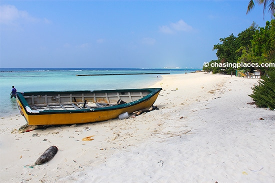 The second beach we visited along the south west corner of Villingili