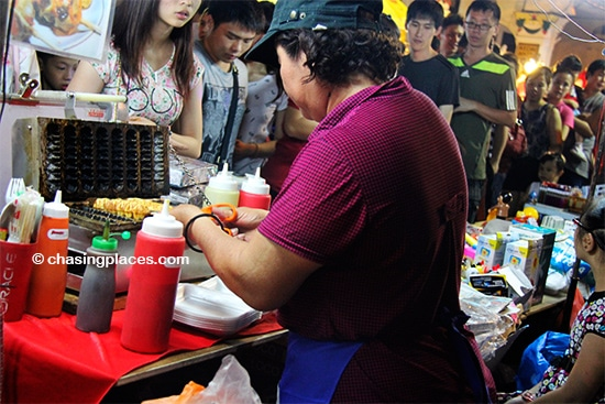 Try some traditional hawker food while visiting Jonker Walk
