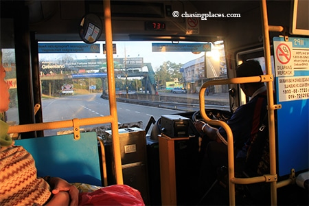 The bus ride from downtown Johor to JB Larkin Station