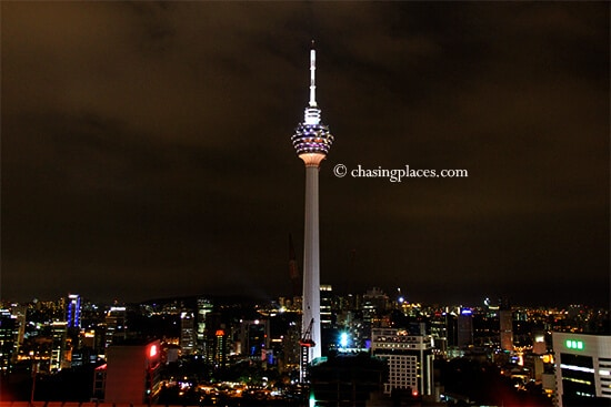 A view of KL Tower from Heli Lounge, Kuala Lumpur