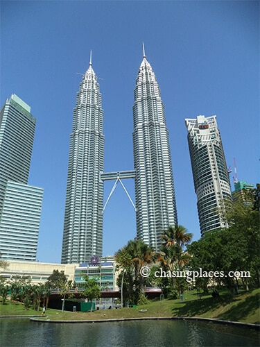 An unobstructed view of the Twin Towers from KLCC Park