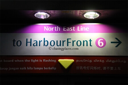 Take Singapore's convenient MRT system to Harbourfront to get to Sentosa